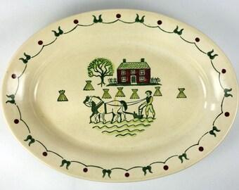 Metlox Poppytrail Homestead Provincial 11 inch Oval Platter Discontinued 1950-82
