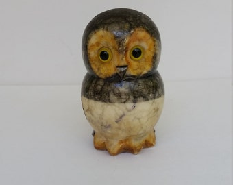 Marble owl, nature lovers and owl collectors accent, marble owl accent, owl paperweight, nature lovers gift, Holiday gift, Christmas gift