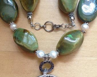 Abalone & Freshwater Pearl Set