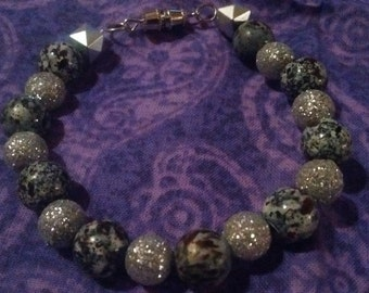 Black and sparkles bracelet