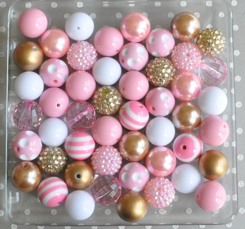 20mm Bead Beads: 20mm Beads Pink And Gold Bubblegum Beads Wholesale Bubble
