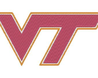 Virginia Tech Hokies Embroidery Design.  5 Hoop Sizes