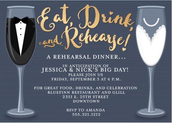 Pre Wedding Dinner Invitation: Wedding Rehearsal Dinner Invitation, Rehearsal Dinner