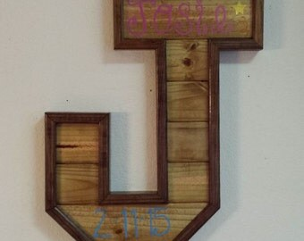 Barn Wood Letter - Baby, Anniversary, Wedding Gift
