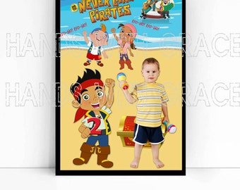 Printable Poster personalized for birthday party Jack and the Neveland