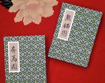 Original Brush Painting Accordion Art Books of Pandas and Horses from China