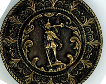 Antique Button- The Angel Garbriel with great border