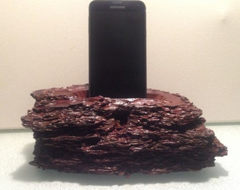 Iphone stand android smartphone Yosemite area old growth thick bark phone holder