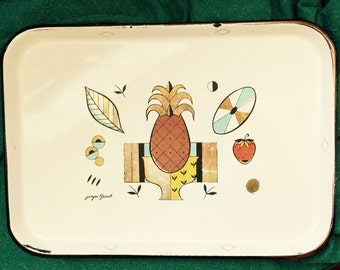 "George Briard ""Ambrosia"" enamel serving tray"