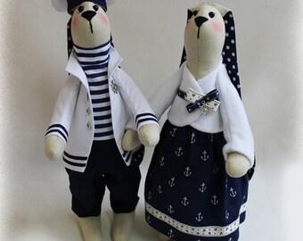 Hares-Sailors Doll Style Marine Funny
