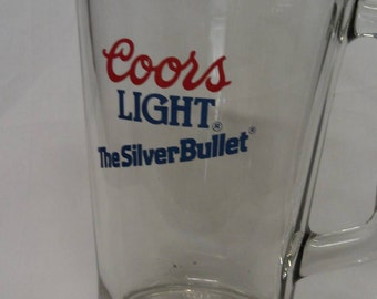 Coors Light The Silver Bullet Glass  Beer Pitcher