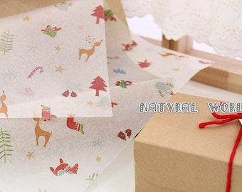 50 sheet Christmas gift Food Wrapping Paper,Nougat wrapping Paper,cake Wax Paper,Soap Packaging Paper,Greaseproof Baking Paper,candy paper