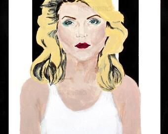 Blondie Debbie Harry art print, painting, poster