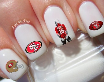 San Francisco 49ers Nail Decals