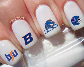 Boise State Broncos Nail Decals