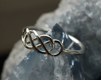 Silver Celtic Infinity Ring (Type I)