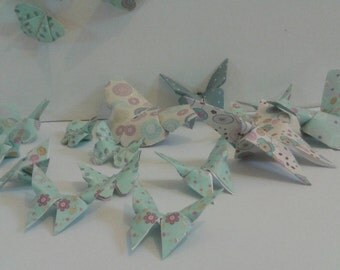 Beautiful paper folded butterflies (sets of 20)
