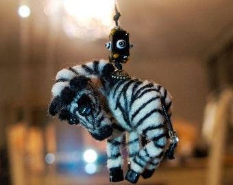 Zebra Felted Miniature