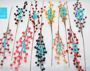 Small Berry Picks Sprays - Assorted Colors - Fall Thanksgiving Christmas Holiday Decorations - Home Decor