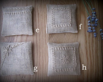Pack of three Lavender sachets rustic feel