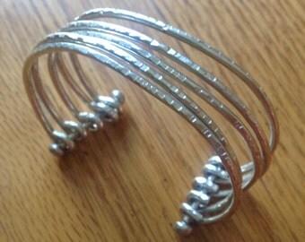 Five-Strand Sterling Silver Cuff Bracelet