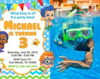Bubble Guppies Invitation, Bubble Guppies Birthday, Bubble Guppies Party