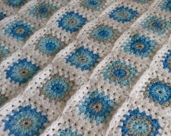 Crochet Baby Blanket, Baby Blanket, Crochet Afghan Blanket  Blanket, Granny Square Blanket