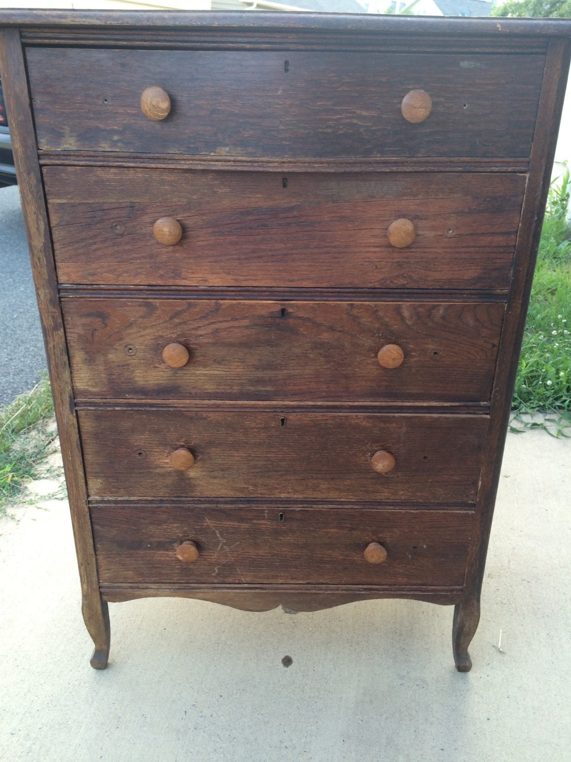 vintage abernathy furniture antique hardwood abernathy brothers tallboy dresser 3154