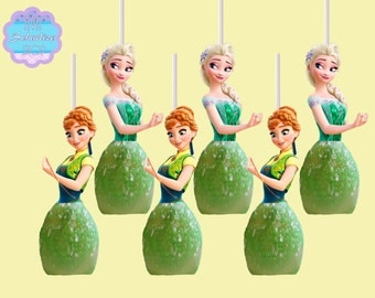 Frozen Fever Cake Pop Toppers, Marshmallow Topper INSTANT DOWNLOAD