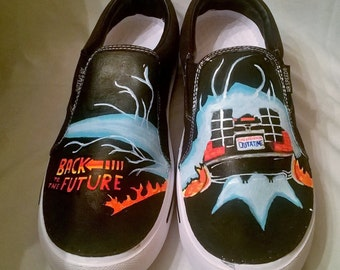 Back to the Future Hand-Painted Canvas Shoes