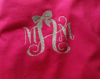 Bow it up! Your initials all cute witha bow