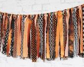 Halloween Garland - Fall Bunting -  Black and Orange Decoration - Halloween Decor