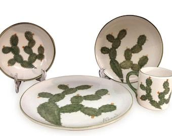 Nopal Handpainted Dinnerware Set (16 pc)