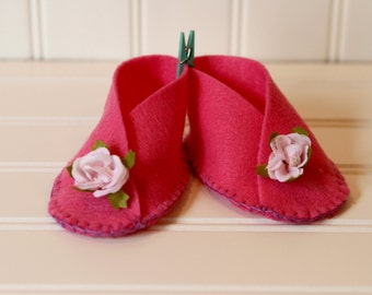 Cherry Blossom Baby Booties