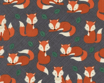 Let's Get Nutty Fox Fabric from Timeless Treasures Let's Get Nutty -  Sly Tula Fabric - Woodland Fabric - Woodland Fox Fabric - PRE-WASHED