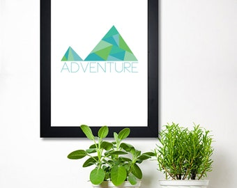 Printable Typography - Quote art - Adventure