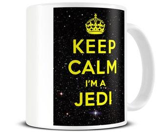 Boyfriend Mug - Keep Calm I'm a Jedi Coffee Mug - Dad Mug - Dad Gift - Gift for Boyfriend - Funny Mug - MG099