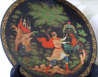 "Vintage Russia Art Plate ""The Golden Cage"""