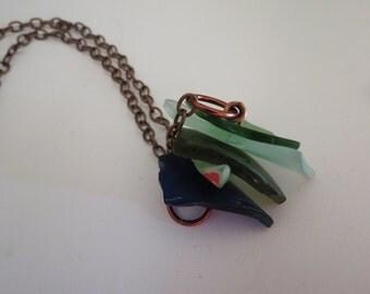 Glass sandwich necklace