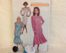 Butterick 6697 misses petite dress and tunic pattern 1988