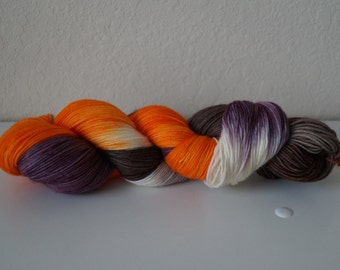 Trick or Treat on 75/25 Sock – Hand Dyed Yarn