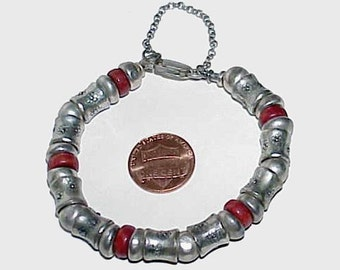 Sterling Silver Beaded Hand Made BRACELET from Israel