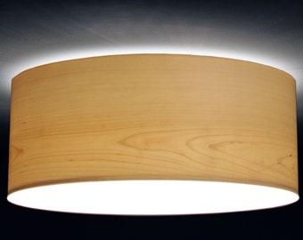 ceiling lamp, D.40 cm, birch-tree veneer