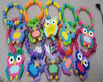 3 Owl Kandi for Raves, EDC, EZOO, Nocturnal Wonderland, PLUR