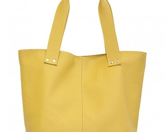 Summer Yellow leather bag