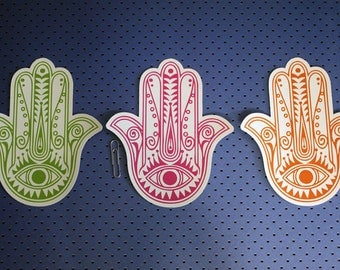 Hamsa Hands Combo Pack of 3 Bumper Stickers