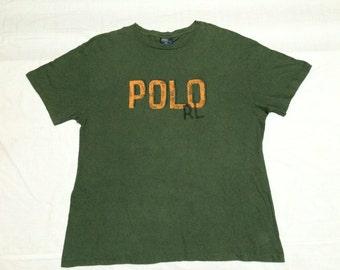 "Clearance sale - vintage 90s polo RL ralph lauren t shirt large size 22"" chest"