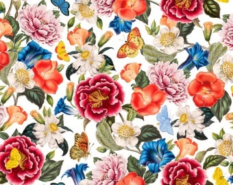 Flowers All Over Fabric