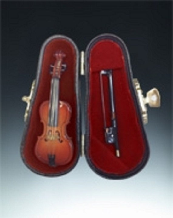 3 Cello Miniature & Case Music Instruments Fairy By