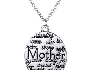 S925 Loving Mother  Pendant Necklace